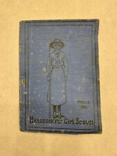 Vintage 1916 Handbook for Girl Scouts