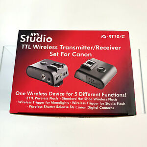 RPS STUDIO TTL Wireless Transmitter/Receiver Set for CANON RS-RT10/C 5 Functions