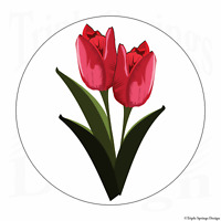 FLOWER Icon Sticker Car Window Vinyl Laptop Decal Cute Graphic Tulip Gift Girlie
