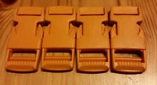 Fastex ITW 20mm Side release buckles - Pack of 4 Orange
