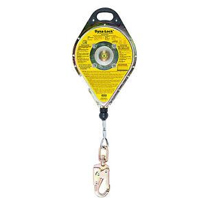 MSA Dyna-Lock Self-Retracting Lanyard Model 506204 Galvanized Wire Rope Safety