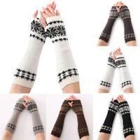 Hot Knit Fingerless Gloves Fashional Arm Hand Warmer Thermal Crochet Mittens