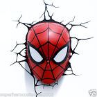 The Amazing Spider-Man Face 3D Deco LED Wall Light Marvel Comics NIB