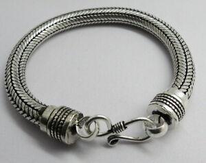 01 Piece Bracelets Bali Snake Silver Chain 8mm Round Chain 18cm, 20cm, 23cm Long