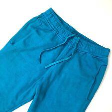 Balmain Men Turquoise Blue Biker Cotton Jogger Tracksuit Trouser Pant Size S M