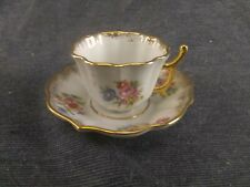 Vintage Limoges France Miniature Hand Painted Flowers Cup & Saucer
