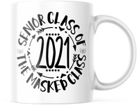 Senior Class of 2021. The Masked Class 11 oz graduation gift for Him and Her,