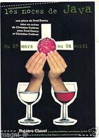 Publicidad-CPM - los Boda Java - Teatro Clavel - 75019 París - 1998
