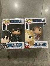 Sword Art Online Asuna And Kirito Pop Vinyl Set