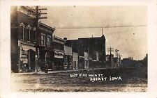 Dysart Iowa~East Side Main Street~New Home Sewing Machines~Millinery~1910 RPPC