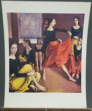 "Moses Soyer Vintage Print ""Dancers"" 28""×22"" 1960's  Shorewood Press"