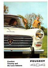 PEUGOET 404 1968 'COMFORT, TOURING AND DE LUXE SALOONS' BROCHURE