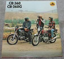 VINTAGE ORIGINAL HONDA CB-360 CB-360G POSTER BROCHURE 1973
