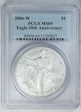 2006 W PCGS MS 69 United States / American Eagle 1 oz Silver .999 Coin