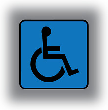 Fauteuil roulant Vinyle Autocollant Voiture Minibus Taxi Handicapé Invalidité Mobilité decal