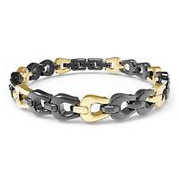 Brosway, Armband *Kronos* Herren Damen, Stahl Schwarz Und Golden (BOS15) Neu
