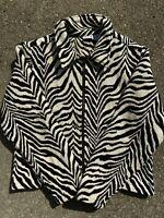 Vintage Zebra Print Jacket size M/L