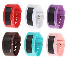 Pollmann Innovation Modern LED Uhr Silikon Design XXL Uhren Unisex Damen Groß