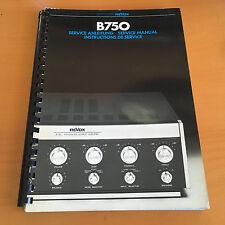 Revox B750 Integraded Amp Repair / Service Manual Schematics Factory Original!