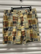 BROOKS BROTHERS Country Club Madres patchwork  plaid mens shorts sz 38