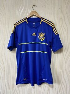 UKRAINE 2012 2013 AWAY FOOTBALL SHIRT SOCCER JERSEY ADIDAS X11605 sz  L