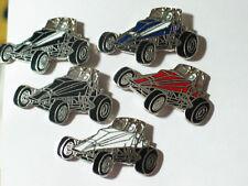 Midget Sprint Race Car Racing Pin , (1) pin - the  Black and White , (**)*
