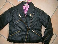 (840) Nolita Pocket Girls Jacke Biker Style Kunstlederjacke Winterjacke gr.98