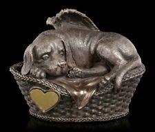 Tier Urne - Hunde-Engel mit Gravurplatte - geliebtes Haustier Tierliebe Andenken