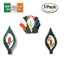 Irish Ireland Easter Rising 1916 Republican Lily Pin Badge Gift Souvenir 3 PACK