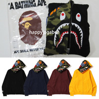 [S-3XL] A BATHING APE Men's 1ST CAMO SHARK FULL ZIP HOODIE 4colors Japan New