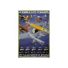 """Metal Sign Roemruchte Fokkers """"Ze gaan weer vliegen"""" (20 x 30 cm)"""