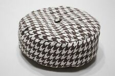 BROWN & WHITE - 24 MONTHS SIZE - BERET STYLE - STOCKING CAP BEANIE HAT!