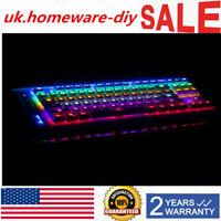 Gaming Keyboard LED Backlit Illuminated Mechanical USB for Desktop PC Computer