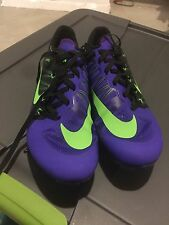 Nike Zoom Ja Fly 2 Black Green Purple Mens Sz 10Victory Spikes Superfly