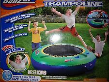 New Inflatable Banzai Bounce Water or Land Trampoline Lake Cabin Pool Portable