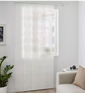 """Set of 2 Ikea ANNAKLARA Panel Curtain Blind White Big Circle Pattern 24"""" x 118"""""""