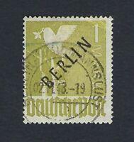 BERLIN 1948 BLACK OVERPRINT 1M GREEN Nº 17 USED