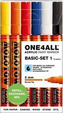 Molotow uno 4 todos 127 - 2 mm de nuevo en caja Pintura Pen Set, Set Básico 1 - 6 Marcadores