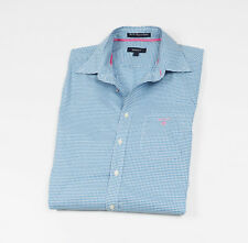GANT Mens White & Blue checked Casual Shirt, long sleeved Size L