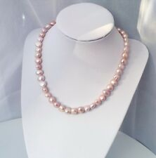 rosa Perlenkette mit echten Süßwasserperlen|Barock Halskette|rosagold AAAQualitä