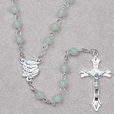 Catholic ROSARY - Glow-in-the-Dark beads and Rose like center piece & Cross -NEW
