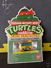 Vintage TMNT MINI MACHINES PARTY VAN Teenage Mutant Hero Turtles from UK 1988 L4