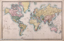 Large Print of an Old WORD MAP - QUALITY Picture Poster Art 3 a