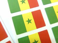Autocollant Mini Pack, étiquettes auto-adhésives Sénégal Drapeau, fr224