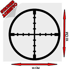 Sticker Adesivo Decal Mirino Target Sniper Cecchino Army Tuning Auto Moto