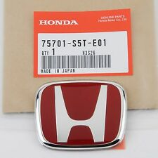 AUTHENTIC JDM 75701-S5T-E01 HONDA CIVIC TYPE-R EP3 RED REAR EMBLEM 2001-2005