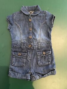 Old Navy Girls Denim One Piece Playsuit Size 18-24 Months. Like New