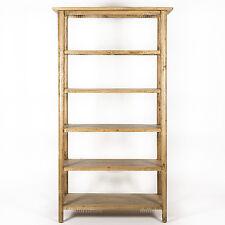 NEW - Danish Style Oak Natural Lacquered Timber 4 Shelf Wide Bookshelf/Shelf