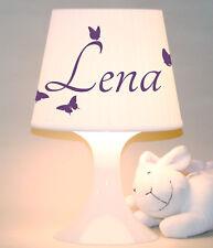 """Kinderlampe Schlummerlampe """"Name mit Schmetterlingen""""  personalisierbar"""