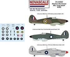 RAAF Hurricane Mk1 Trop WWII Decals 1/144 Scale N14460